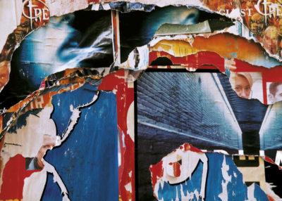 """""""Regards bleus"""" (série Dans ma rue), photographie, impression numérique sur toile libre, 70x50 cm"""