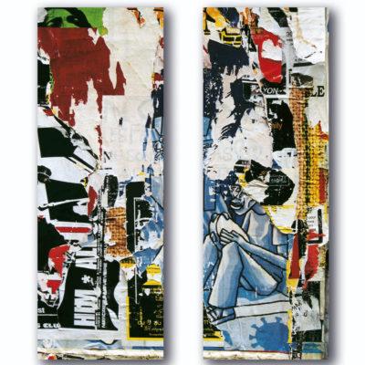 """""""Tambourin"""" (série Dans ma rue), photographie, impression numérique sur toile libre, dyptique (2x35) 70x100 cm"""