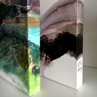 œuvres en techniques mixtes sur toiles 3D
